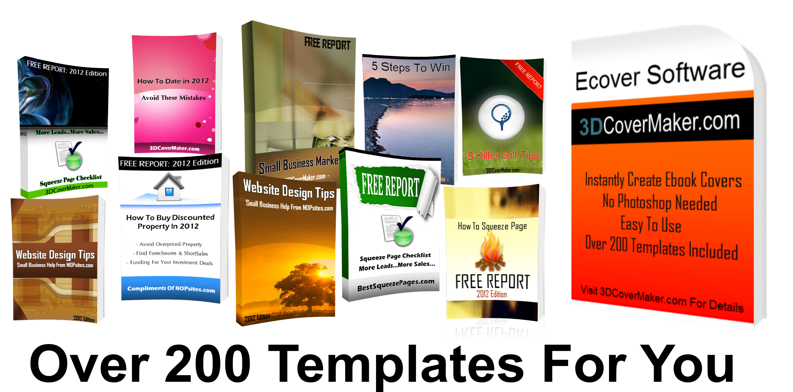 free ebook covers templates - 3d cover maker ebook software create unlimited covers